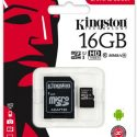 Memoria Micro SD Kingston | 16 GB Tarjeta de Memoria Clase 10