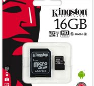Kingston – Micro SD 16 GB Tarjeta de Memoria Clase 10