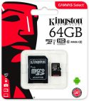 Memoria Micro SD HC Clase 10 de 64GB Kingston