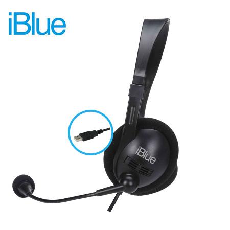 Audífono con micrófono iblue hs3001bk