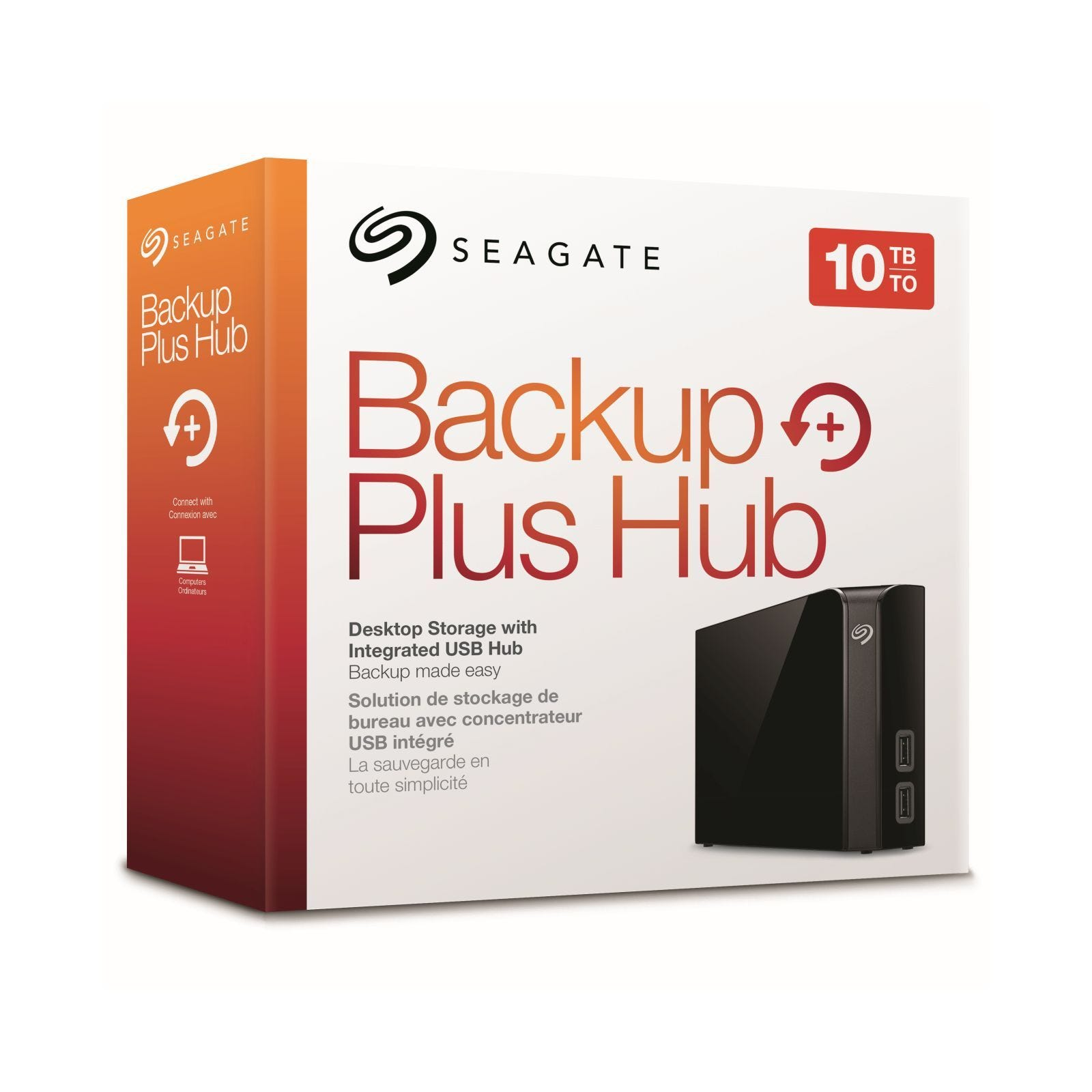 Disco duro externo Seagate 10tb Backup plus hub