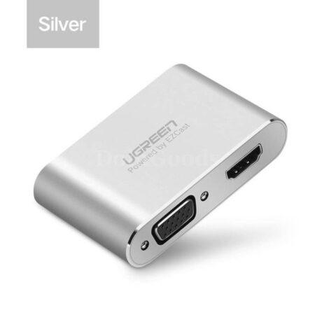 adaptador USB a HDMI y VGA Ugreen 3 en 1